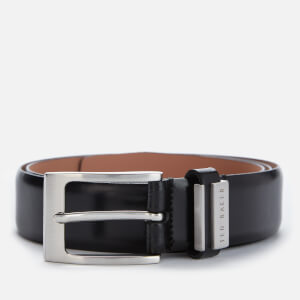 Ted Baker Men's Bilding Branded Leather Belt - Black