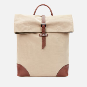 Ted Baker Men's Featt Recycled Canvas Backpack - Natural