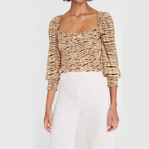 Faithfull the Brand Women's Willow Top - Wyldie Animal Print
