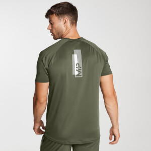 Printed Training Short Sleeve T-Shirt för män – Grön