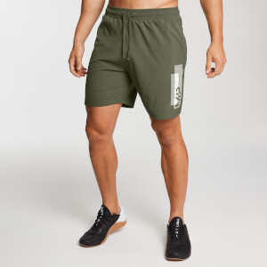 Men's Printed Training Shorts - Army Green