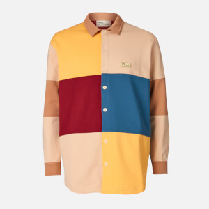 Drôle de Monsieur Men's Fleece Colour Block Shirt - Multi