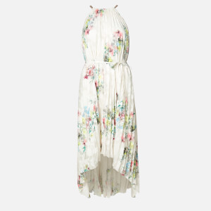 Ted Baker Women's Threlin Pergola Pleated Halterneck Dress - Ivory