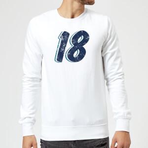 18 Distressed Sweatshirt - White