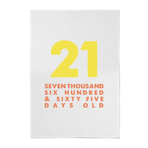 21 Seven Thousand Six Hundred And Sixty Five Days Old Cotton Tea Towel