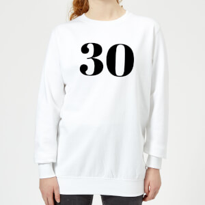 30 Women's Sweatshirt - White