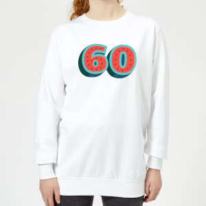 60 Dots Women's Sweatshirt - White