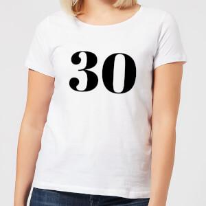 30 Women's T-Shirt - White