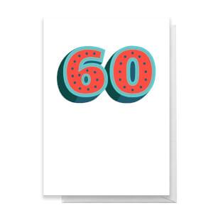 60 Dots Greetings Card