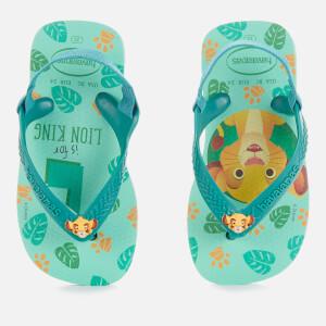 Havaianas Toddlers' Disney Classics II - Simba Flip Flops - Green Dew