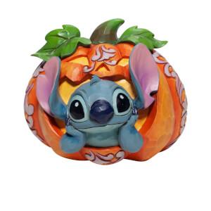 Disney Traditions Stitch in Jack-O-Lantern Figurine 10cm