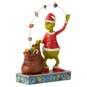 Figura de El Grinch by Jim Shore Grinch Sacando la Decoración - 22.5cm