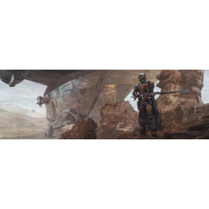 "Star Wars The Mandalorian ""Best in the Parsec"" Lithograph by Brent Woodside"