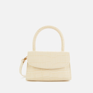 by FAR Women's Mini Croco Top Handle Bag - Cream