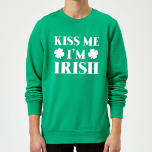Kiss Me I'm Irish Sweatshirt - Kelly Green