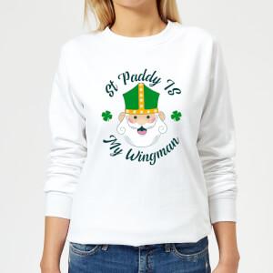 St Paddy Is My Wingman Women's Sweatshirt - White