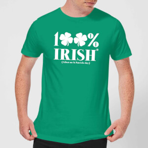 100% Irish* Men's T-Shirt - Kelly Green