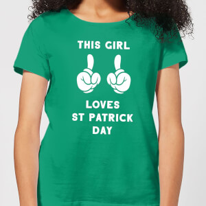 This Girl Loves St Patrick Day Women's T-Shirt - Kelly Green