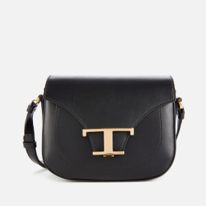Tod's Women's Logo Micro Saddle Bag - Black