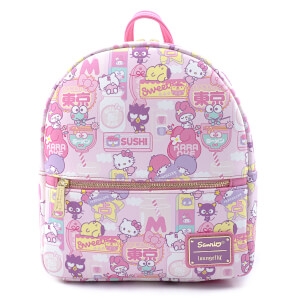 Loungefly Sanrio Hello Kitty Kawaii Aop Convertible Mini Backpack