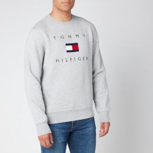 Tommy Hilfiger Men's Flag Sweatshirt - Medium Grey