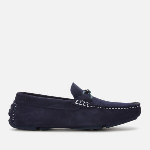 Ted Baker Men's Cottn Suede Driving Shoes - Navy
