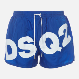 Dsquared2 Men's Large Logo Swim Shorts - Blue/White