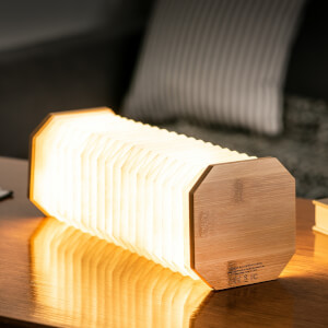 Gingko Smart Accordion Lamp - Natural Bamboo