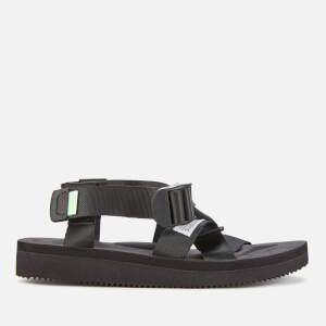 Suicoke Women's Chin2-Cab Nylon Strappy Sandals - Black