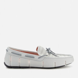 SWIMS Men's Knit Lace Loafers - Glacier Gray/Navy