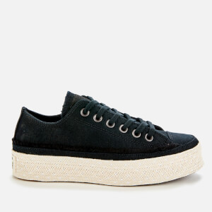 Converse Women's Chuck Taylor All Star Espadrille Ox Trainers - Black/White/Natural
