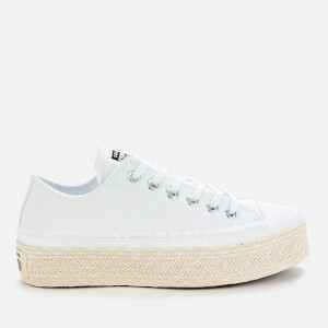 Converse Women's Chuck Taylor All Star Espadrille Ox Trainers - White/Black/Natural
