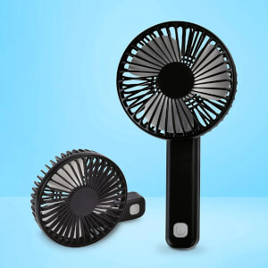 Folding Rechargeable Fan - Black