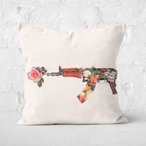 Flower Gun Square Cushion