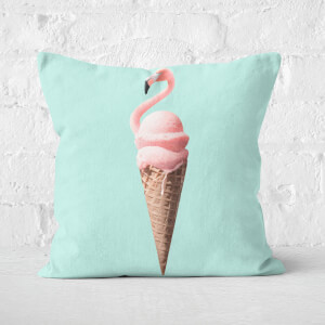 Flamingo Cone Square Cushion