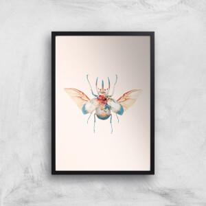 Vintage Beetle Giclee Art Print
