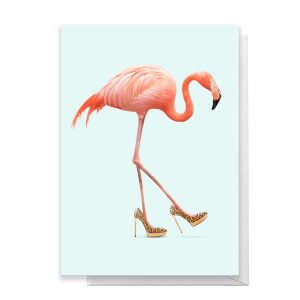 Fancy Flamingo Greeting Greetings Card