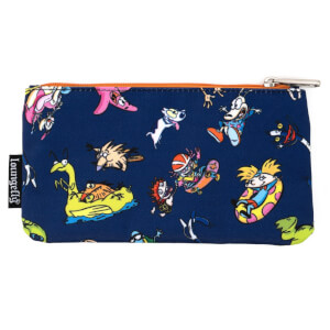 Loungefly Nickelodeon Retro Characters Aop Nylon Pouch