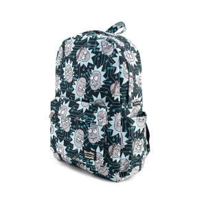 Loungefly Rick & Morty Computer Chip Rick Aop Nylon Backpack