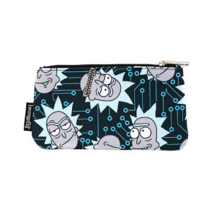 Loungefly Rick & Morty Computer Chip Rick Aop Nylon Pouch