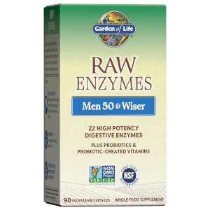 Garden of Life Raw Enzymes Men 50 and Wiser 90ct Capsules