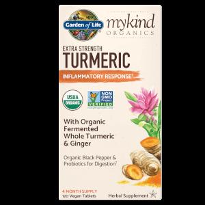 mykind Organics Herbal Turmeric Extra Strength 120ct Tablets