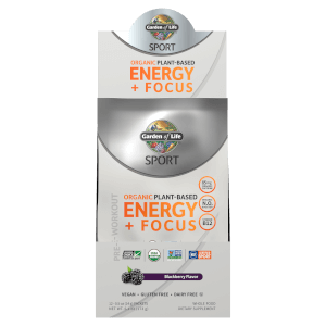 Sport Organic Plant-Based Energy Plus Focus - Blackberry - 12 Sachets