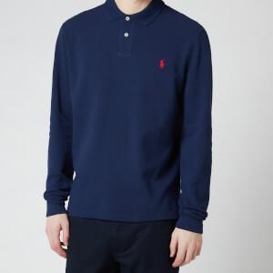 Polo Ralph Lauren Men's Slim Fit Mesh Long Sleeve Polo Shirt - Newport Navy