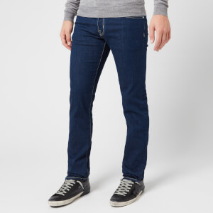 Jacob Cohen Men's Tan Badge Slim Denim Jeans - Dark Blue