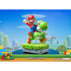 First 4 Figures Super Mario Resin Statue - Mario and Yoshi