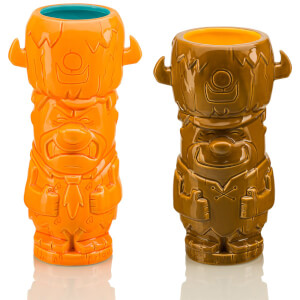 Beeline Creative The Flintstones Fred and Barney Geeki Tikis Mug 2-Pack