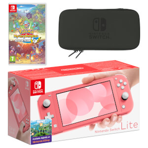 Nintendo Switch Lite (Coral) Pokémon Mystery Dungeon Rescue Team DX Pack