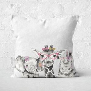 Baby Animals Square Cushion