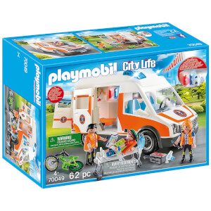 Playmobil City Life Ambulance with Lights and Sound (70049)